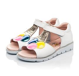 Детские босоножки Woopy Fashion белые для девочек натуральная кожа размер 23-33 (8210) Фото 3
