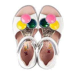 Детские босоножки Woopy Fashion белые для девочек натуральная кожа размер 23-33 (8210) Фото 5