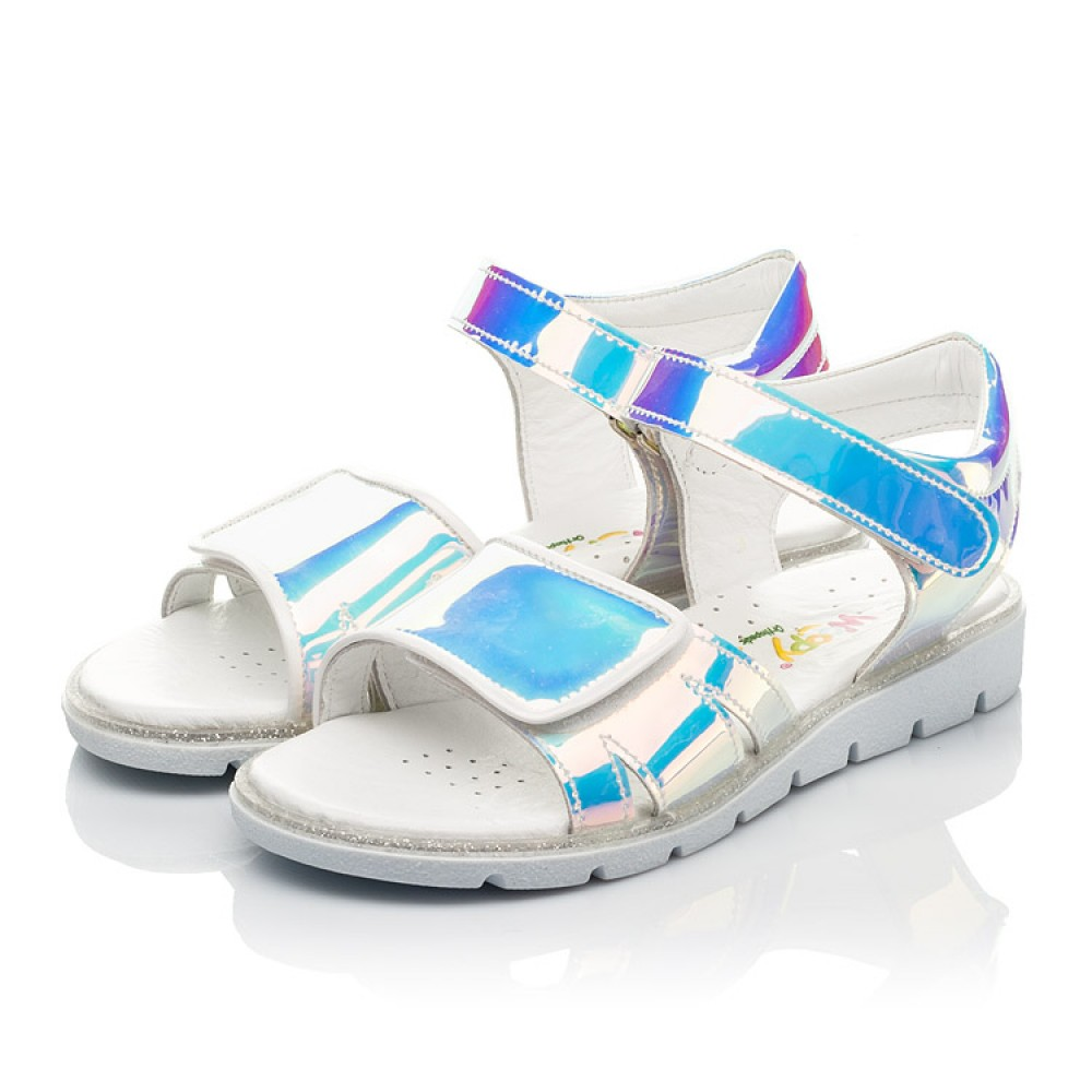Детские босоножки Woopy Fashion серебряные для девочек современный искусственный материал размер 25-36 (8211) Фото 3