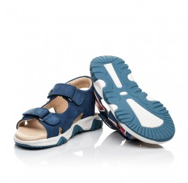Детские босоножки Woopy Fashion синие для мальчиков натуральный нубук размер 24-33 (8213) Фото 2