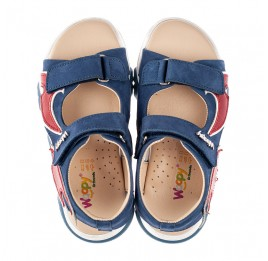 Детские босоножки Woopy Fashion синие для мальчиков натуральный нубук размер 24-33 (8213) Фото 5