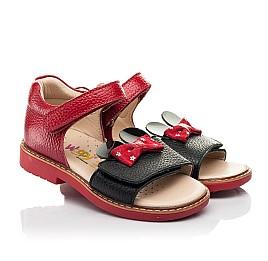Детские босоножки Woopy Orthopedic красные для девочек натуральная кожа размер 20-30 (8214) Фото 1