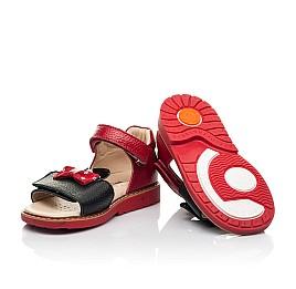 Детские босоножки Woopy Orthopedic красные для девочек натуральная кожа размер 20-30 (8214) Фото 2
