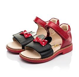 Детские босоножки Woopy Orthopedic красные для девочек натуральная кожа размер 20-30 (8214) Фото 3