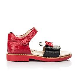 Детские босоножки Woopy Orthopedic красные для девочек натуральная кожа размер 20-30 (8214) Фото 4