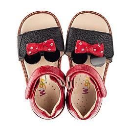 Детские босоножки Woopy Orthopedic красные для девочек натуральная кожа размер 20-30 (8214) Фото 5
