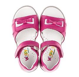 Детские босоножки Woopy Fashion малиновые для девочек натуральная кожа размер 23-33 (8215) Фото 5
