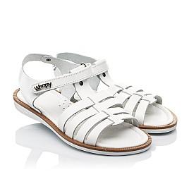 Детские босоножки Woopy Fashion белые для девочек натуральная кожа размер 31-35 (8218) Фото 1