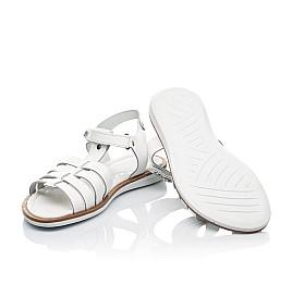 Детские босоножки Woopy Fashion белые для девочек натуральная кожа размер 31-35 (8218) Фото 2