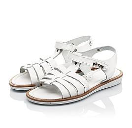Детские босоножки Woopy Fashion белые для девочек натуральная кожа размер 31-35 (8218) Фото 3