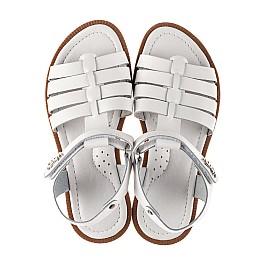 Детские босоножки Woopy Fashion белые для девочек натуральная кожа размер 31-35 (8218) Фото 5