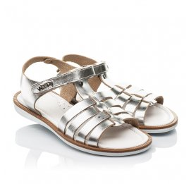 Детские босоножки Woopy Fashion серебряные для девочек натуральная кожа размер 31-32 (8219) Фото 1