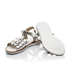 Детские босоножки Woopy Fashion серебряные для девочек натуральная кожа размер 31-32 (8219) Фото 2