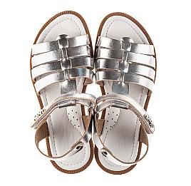 Детские босоножки Woopy Fashion серебряные для девочек натуральная кожа размер 31-32 (8219) Фото 5