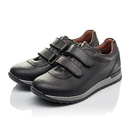 Детские кроссовки Woopy Fashion черные для мальчиков натуральная кожа размер 30-40 (8229) Фото 3