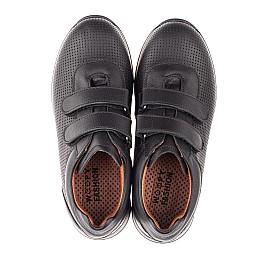 Детские кроссовки Woopy Fashion черные для мальчиков натуральная кожа размер 30-40 (8229) Фото 5