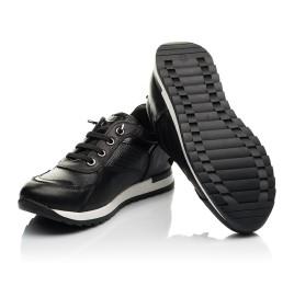 Детские кроссовки (шнурок-резинка) Woopy Fashion черные для девочек натуральная кожа размер 31-39 (8230) Фото 2