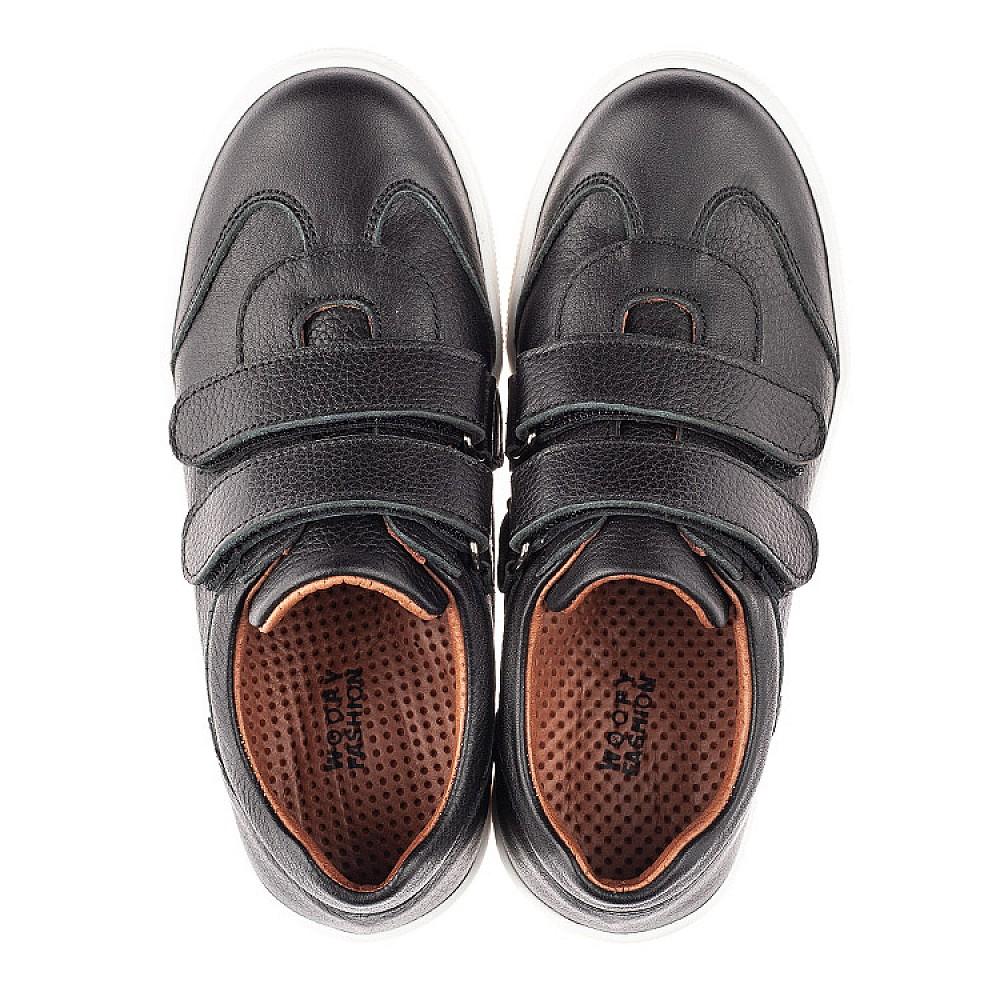 Детские кеды Woopy Fashion черные для девочек натуральная кожа размер 26-40 (8232) Фото 5