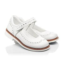 Детские туфли Woopy Orthopedic белые для девочек натуральная кожа размер 23-33 (8245) Фото 1
