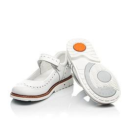 Детские туфли Woopy Orthopedic белые для девочек натуральная кожа размер 23-33 (8245) Фото 2