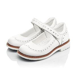 Детские туфли Woopy Orthopedic белые для девочек натуральная кожа размер 23-33 (8245) Фото 3