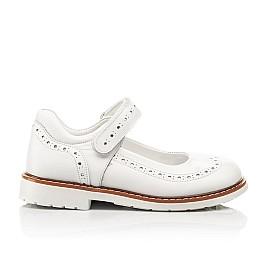 Детские туфли Woopy Orthopedic белые для девочек натуральная кожа размер 23-33 (8245) Фото 4