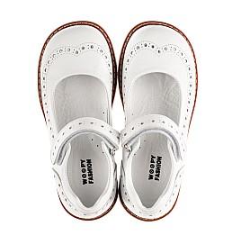 Детские туфли Woopy Orthopedic белые для девочек натуральная кожа размер 23-33 (8245) Фото 5