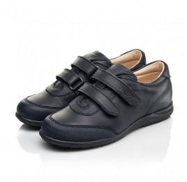 Детские туфли Woopy Fashion синие для мальчиков натуральная кожа размер 31-36 (8246) Фото 3
