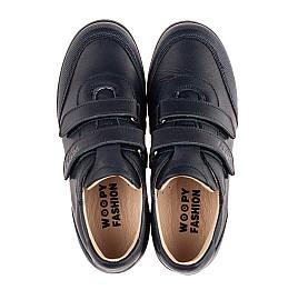Детские туфли Woopy Fashion синие для мальчиков натуральная кожа размер 31-36 (8246) Фото 5