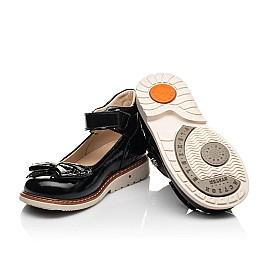 Детские туфли Woopy Orthopedic черные для девочек натуральная лаковая кожа размер 29-36 (8247) Фото 2