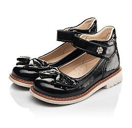 Детские туфли Woopy Orthopedic черные для девочек натуральная лаковая кожа размер 29-36 (8247) Фото 3