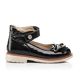 Детские туфли Woopy Orthopedic черные для девочек натуральная лаковая кожа размер 29-36 (8247) Фото 4