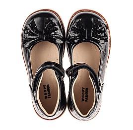 Детские туфли Woopy Orthopedic черные для девочек натуральная лаковая кожа размер 29-36 (8247) Фото 5