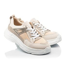 Детские кроссовки Woopy Fashion бежевые для девочек натуральный нубук, современный искусственный материал размер 33-40 (8255) Фото 1