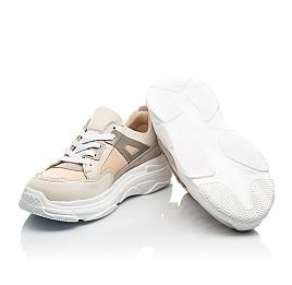Детские кроссовки Woopy Fashion бежевые для девочек натуральный нубук, современный искусственный материал размер 33-40 (8255) Фото 2