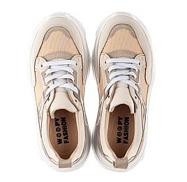 Детские кроссовки Woopy Fashion бежевые для девочек натуральный нубук, современный искусственный материал размер 33-40 (8255) Фото 5