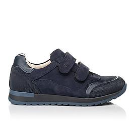 Детские кроссовки Woopy Fashion синие для мальчиков натуральный нубук размер 30-40 (8256) Фото 4