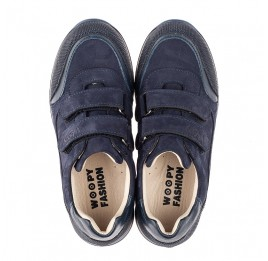 Детские кроссовки Woopy Fashion синие для мальчиков натуральный нубук размер 30-40 (8256) Фото 5