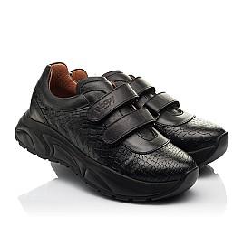 Детские кроссовки Woopy Fashion черные для девочек натуральная кожа размер 28-40 (8258) Фото 1