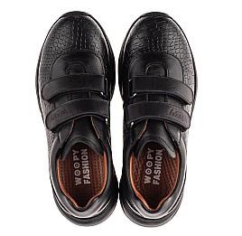 Детские кроссовки Woopy Fashion черные для девочек натуральная кожа размер 28-40 (8258) Фото 5