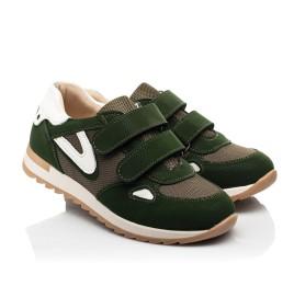 Детские кроссовки Woopy Fashion зеленые для мальчиков натуральный нубук, современный искусственный материал размер 23-33 (8259) Фото 1