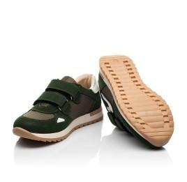 Детские кроссовки Woopy Fashion зеленые для мальчиков натуральный нубук, современный искусственный материал размер 23-33 (8259) Фото 2