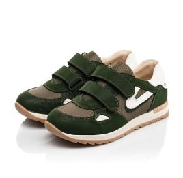 Детские кроссовки Woopy Fashion зеленые для мальчиков натуральный нубук, современный искусственный материал размер 23-33 (8259) Фото 3