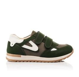 Детские кроссовки Woopy Fashion зеленые для мальчиков натуральный нубук, современный искусственный материал размер 23-33 (8259) Фото 4