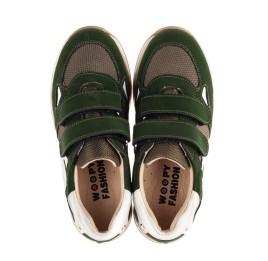 Детские кроссовки Woopy Fashion зеленые для мальчиков натуральный нубук, современный искусственный материал размер 23-33 (8259) Фото 5