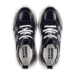 Детские кроссовки Woopy Fashion синие для девочек натуральная кожа и замша размер 32-40 (8265) Фото 5
