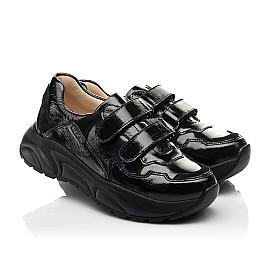 Детские кроссовки Woopy Fashion черные для девочек натуральная лаковая кожа размер 28-40 (8267) Фото 1