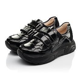 Детские кроссовки Woopy Fashion черные для девочек натуральная лаковая кожа размер 28-40 (8267) Фото 3