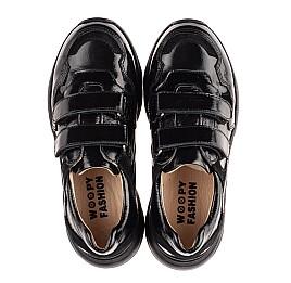 Детские кроссовки Woopy Fashion черные для девочек натуральная лаковая кожа размер 28-40 (8267) Фото 5