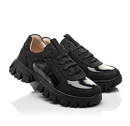 Детские кроссовки Woopy Fashion черные для девочек натуральный нубук размер 31-40 (8273) Фото 1
